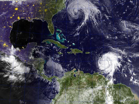 EPA SPACE ATLANTIC OCEAN WEATHER HURRICANE JOSE MARIA WEA WEATHER --- AT