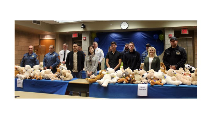 Cumberland County College's Criminal Justice Society student organization recently collected 100 new Teddy bears for distribution to the Cumberland County Sheriff's Office, and the Vineland, Millville and Bridgeton police departments. Officers will keep the bears in their patrol cars to help comfort children involved in car accidents or other traumatic situations.
