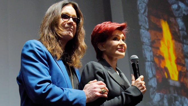 Ozzy Osbourne of Black Sabbath and wife/manager Sharon Osbourne on May 12, 2016, in Hollywood.