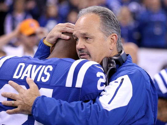 Vontae Davis' relationship with coach Chuck Pagano, once very close, soured in recent days.