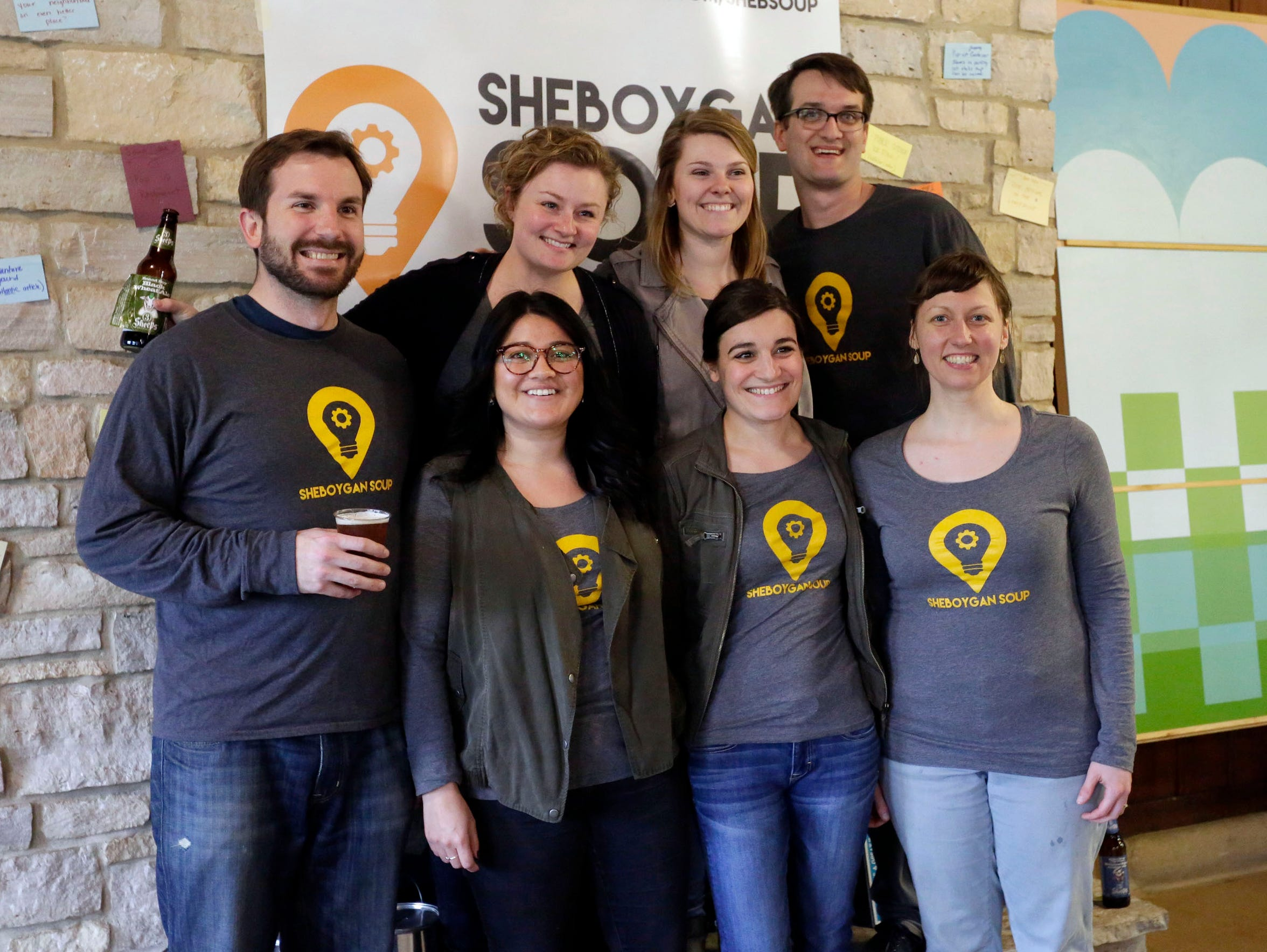 A group of Sheboygan SOUP advocates pose during the