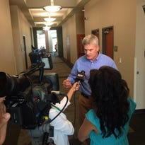 The U.S. Senator was in Lafayette Monday to discuss the need for better health care for Acadiana veterans.