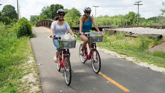 The popularity of Clarksville's BCycle bike-sharing system helped inspire the newly formed 'Bike Walk Clarksville' citizens group.