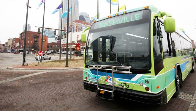 The MTA circulator buses make getting around downtown Nashville easy and cheap.