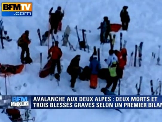 An avalanche in Les Deux Alpes killed several students