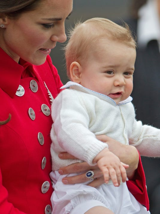 Prince George delights in most-watched play date ever