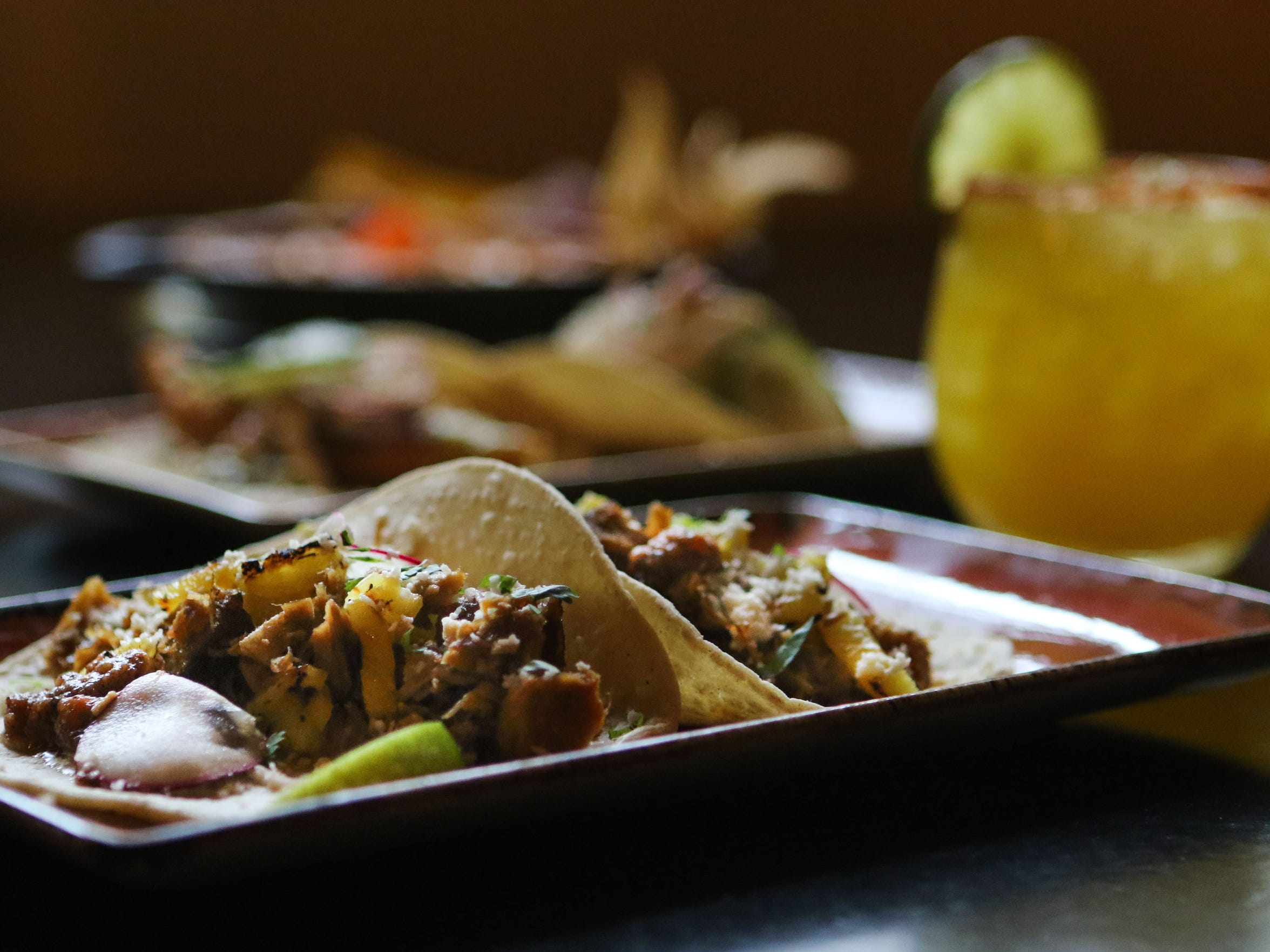 The pork carnitas tacos at Cocina Lolo in Wilmington, one of the participating restaurants in Delaware Dines Out.