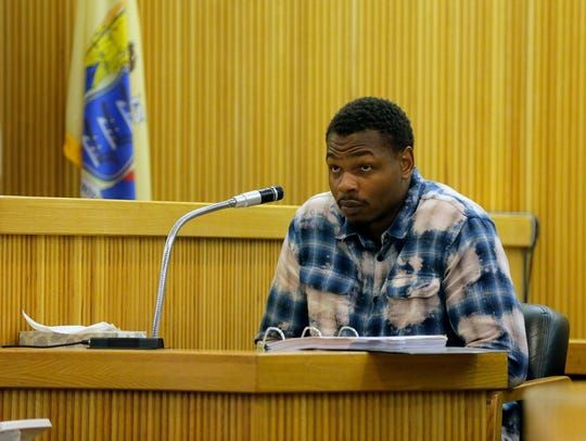 Witness Kyre Wallace of Asbury Park testifies during