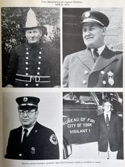 Photos of four generations of York City firefighters