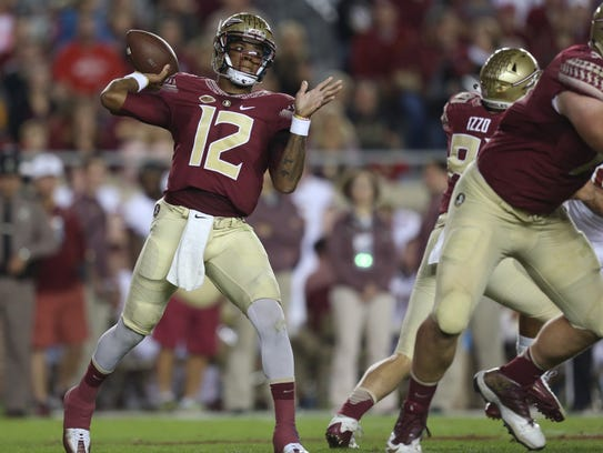 FSU's Deondre Francois throws the ball against Boston