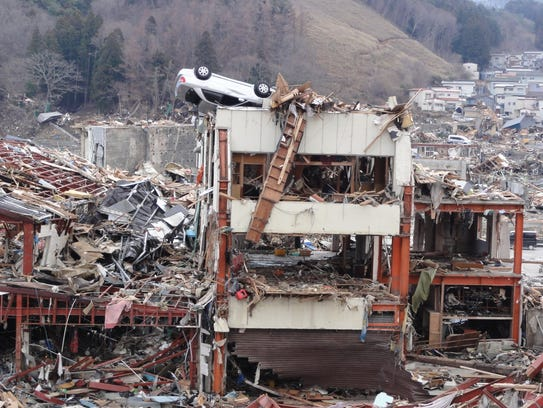 The 2011 earthquake and tsunami in Japan shows the