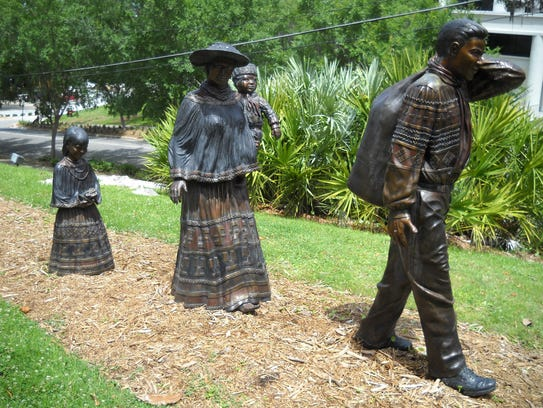 These three bronze statues, outside the Museum of Florida