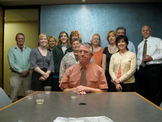 Peter Cronk's colleagues bid him farewell at his retirement