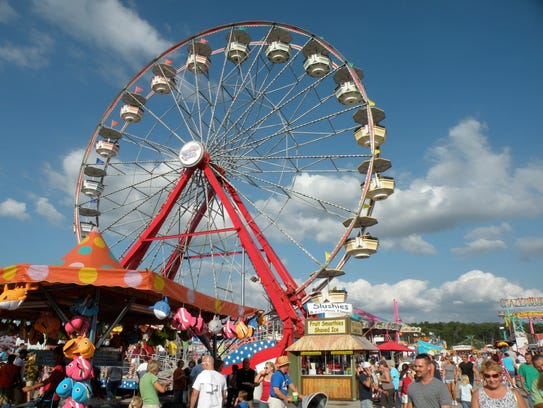The Ferris Wheel at the Wilson County Fair will be