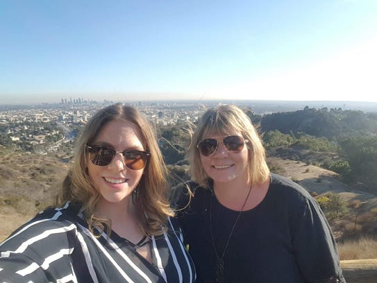 Alexandria Gallager and her mom Cherry in Hollywood