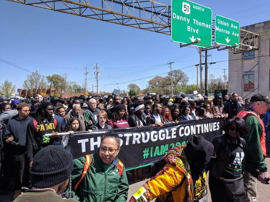 Florida A&M University students join march in Memphis