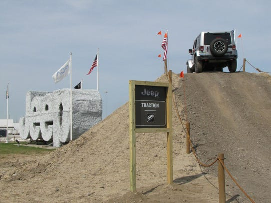 Fiat Chrysler Automobiles built an off-road course