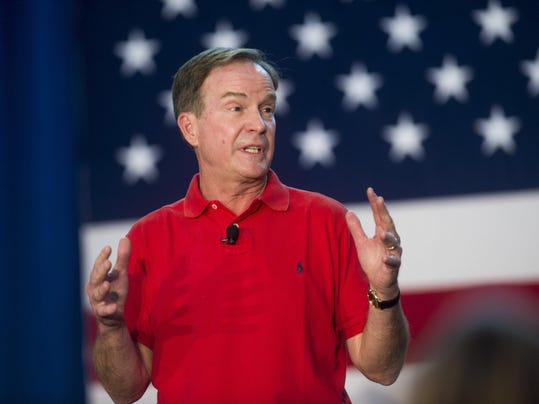 Attorney General Bill Schuette announces gubernatorial run at Midland BBQ