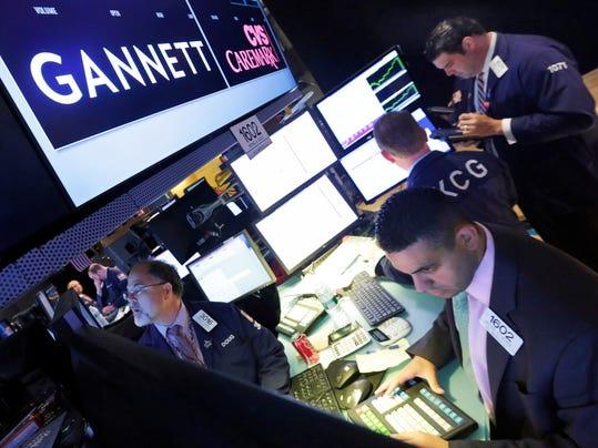 Financial Markets Wall Street Gannett Spinoff