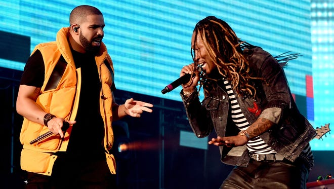 Drake (left) and Future perform at Day 2 of Coachella in Indio, Calif.