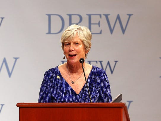 MaryAnn Baenninger, President of Drew University, introduces