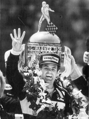 Al Unser Sr. after winning the 1987 Indianapolis 500