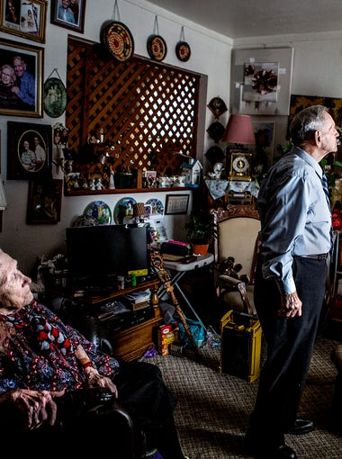 George and Alice Gordon look at old photos of them together as they reflect on their 70 years of marriage. The couple met in High School and drove to Kentucky when they were 17 to elope.