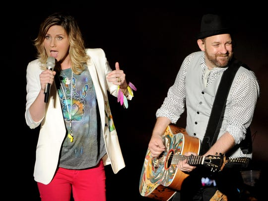 Jennifer Nettles and Kristian Bush are back as Sugarland. The duo will perform at the Iowa State Fair on Aug. 17.