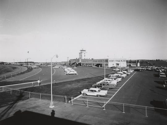The Broome County Airport, shown around 1955, four