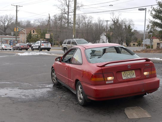Ashly Hannah, of Vineland, sits in her car at Al's