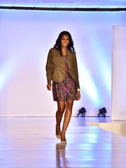 Tinika Blackmon models during a previous Stepping Out in Style Fashion Show fundraiser.