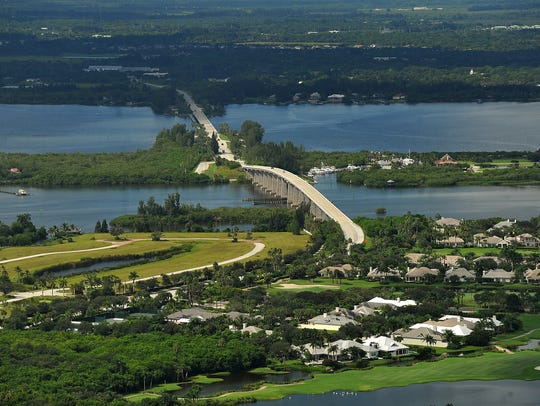 An aerial of Vero Beach and Orchid Island with the