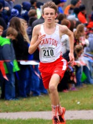 On his way to running the fastest-ever time at a regional