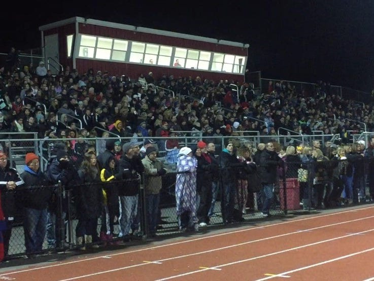 More than 2,200 fans packed into Hilton High School's stadium on Friday night to watch Greece Athena take on rival Greece Arcadia for the Section Class A1 boys soccer title.