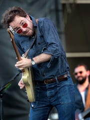 Taylor Goldsmith with the band Dawes performs on the