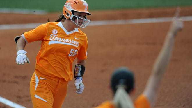Tennessee's Meghan Gregg hit a grand slam in the sixth inning Friday night, which turned out to be the difference in a 7-4 SEC softball victory over Missouri at Lee Stadium. The win opened conference play.