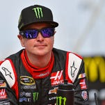 Kurt Busch, shown here Nov. 2, has met with police in Delaware as they investigate claims that Busch assaulted his ex-girlfriend in September.