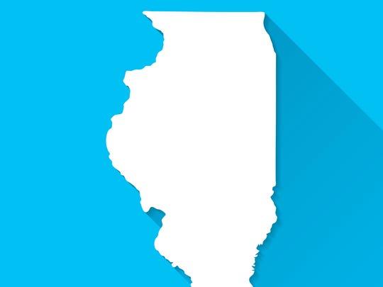 Map of Illinois.