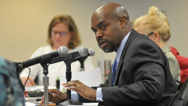 Former Brevard Superintendent Desmond Blackburn at a previous school board workshop. Blackburn resigned as superintendent in August, accepting the CEO position of New Teacher Center, an education nonprofit that supports first-year teachers.