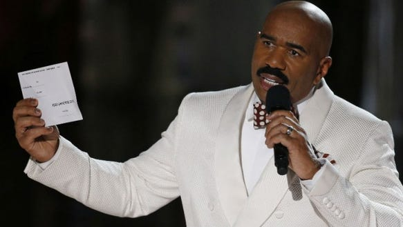 Entertainer Steve Harvey is having a press conference