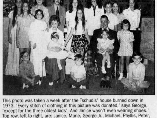 Tschudi Family portrait in 1973.