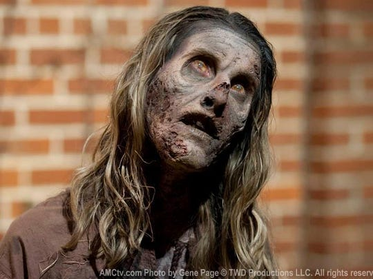 Tara Bennett as a walker on The Walking Dead