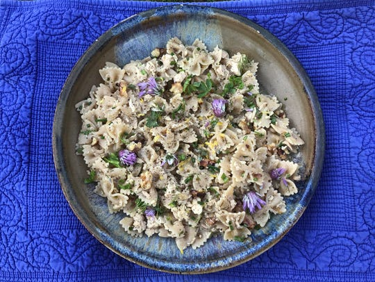 Whole-Wheat Farfalle with Tuna, Walnuts, Lemon and