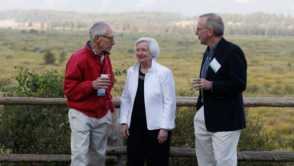 Federal Reserve Chair Janet Yellen, Stanley Fischer,