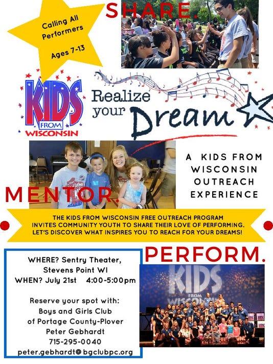 Kids of Wisconsin outreach program