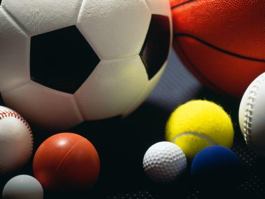 Sports stock image balls