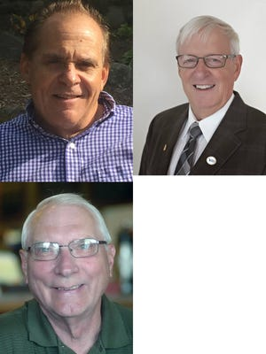 South Lyon Mayor candidates John Galeas, Tedd Wallace and Harvey Wedell