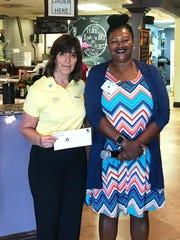 Natalia Armstrong with Sandra Hempstead, Rotary's Shelter