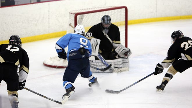 Pelham defeated Clarkstown 6-0 in hockey action at the Ice Hutch in Mount Vernon Dec. 23, 2016.