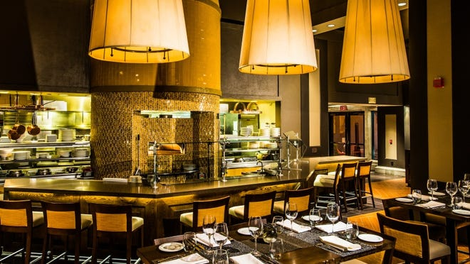 Pinzimini Restaurant at The Westin Mission Hills provides an intimate setting for a romantic meal.
